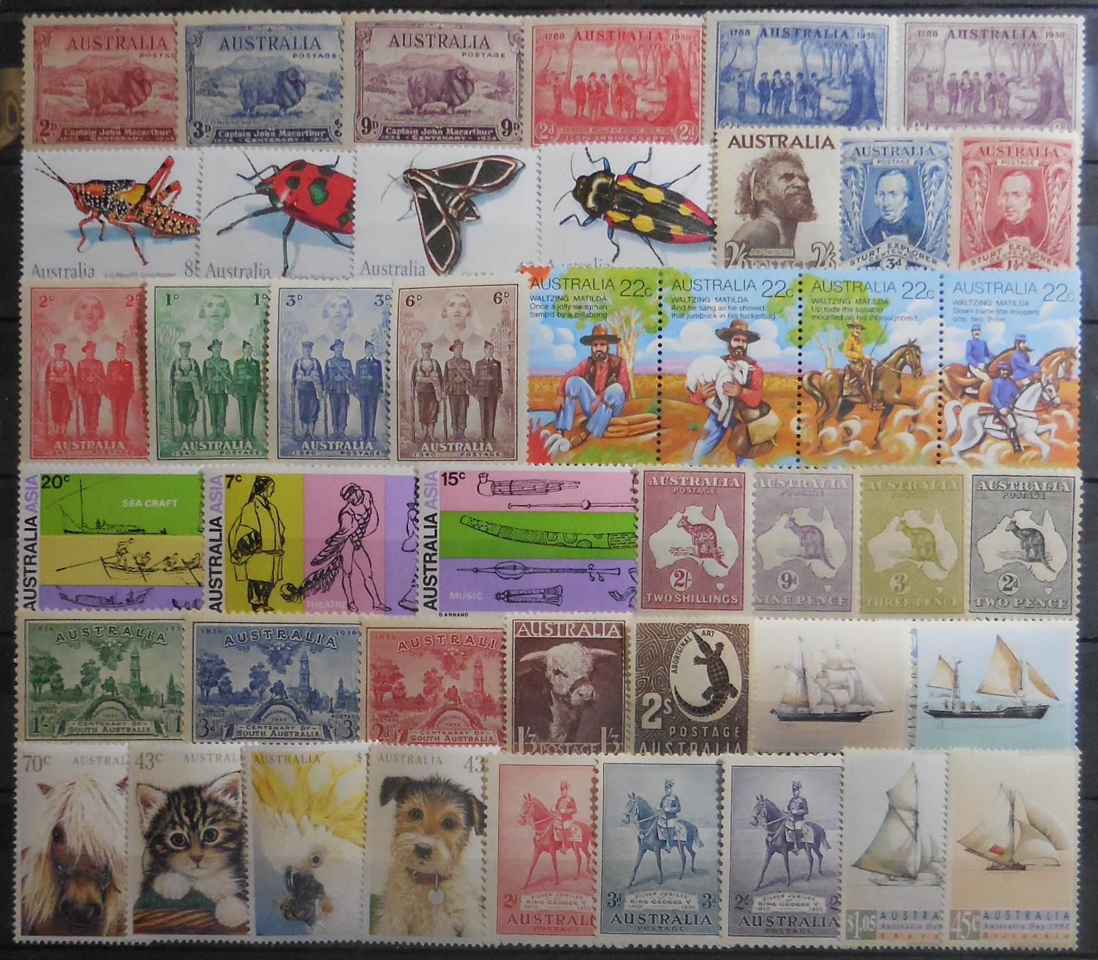 Australian stamps for collectors on approval