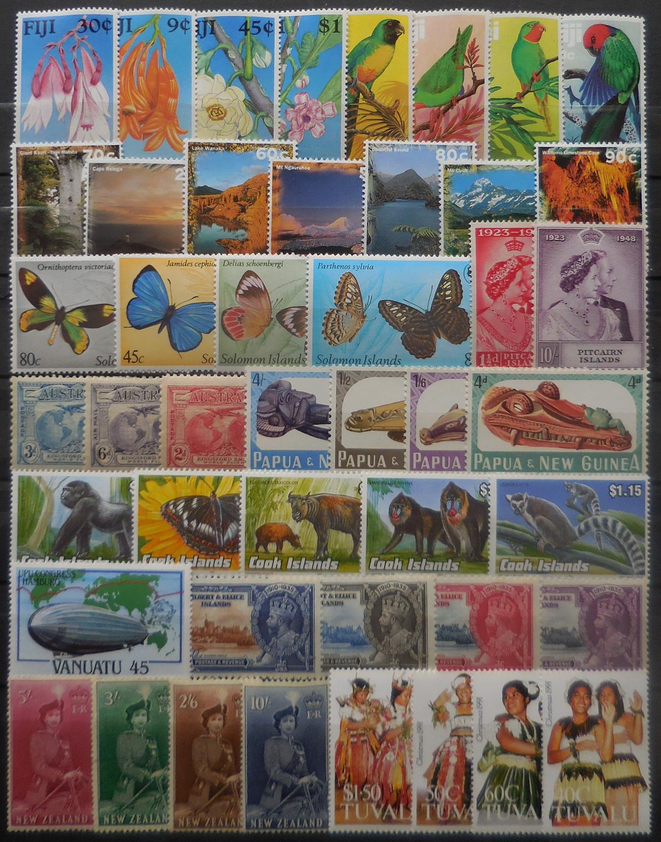 British pacific stamps for collectors on approval