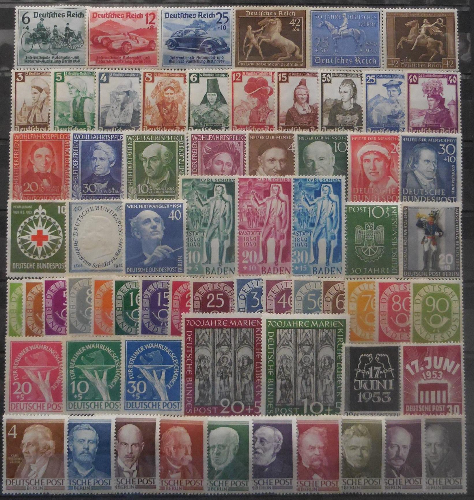 German stamps for collectors on approval
