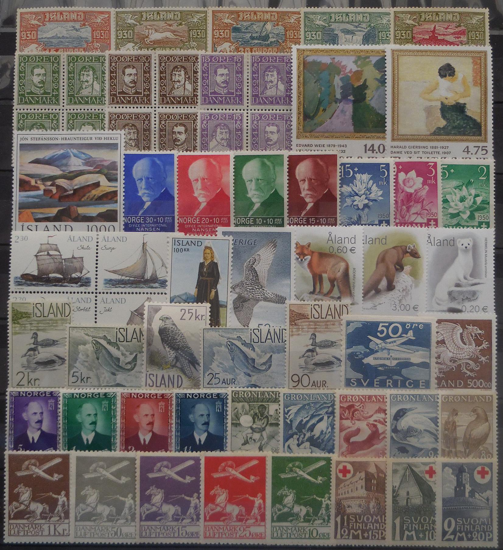 Scandinavian stamps for collectors on approval